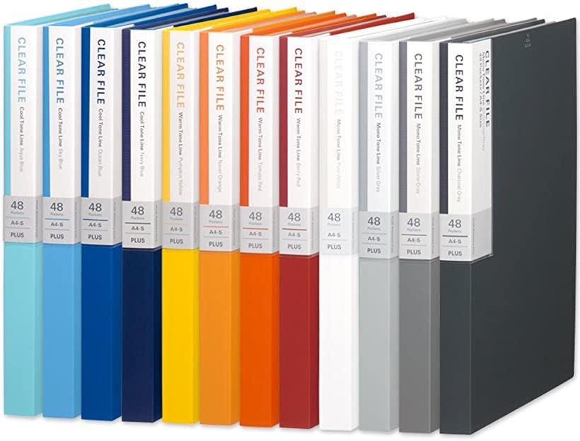 クリアファイル A4縦 48ポケット デジャヴ FC-148DP グラデーション全12色組(12色セット)