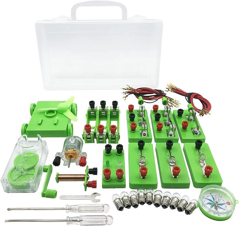 正規品送料無料 AW-Net 小学生 返品交換不可 理科 電気実験キット 豆電球実験セット 直列 電磁石 ケース 付き 回路 並列