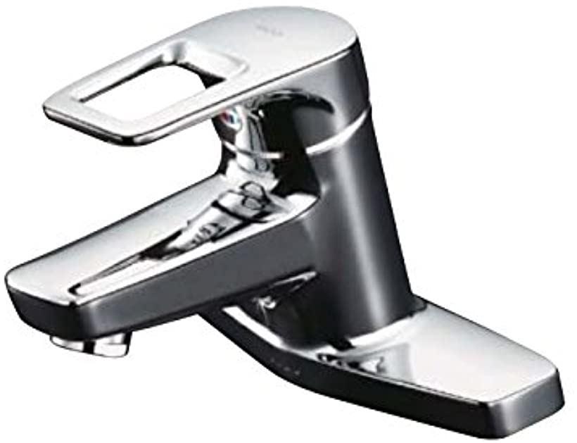 洗面用水栓 シングル混合水栓 台付き2穴 寒冷地向け ポップアップ式取り替え用 TLHG30AEZ