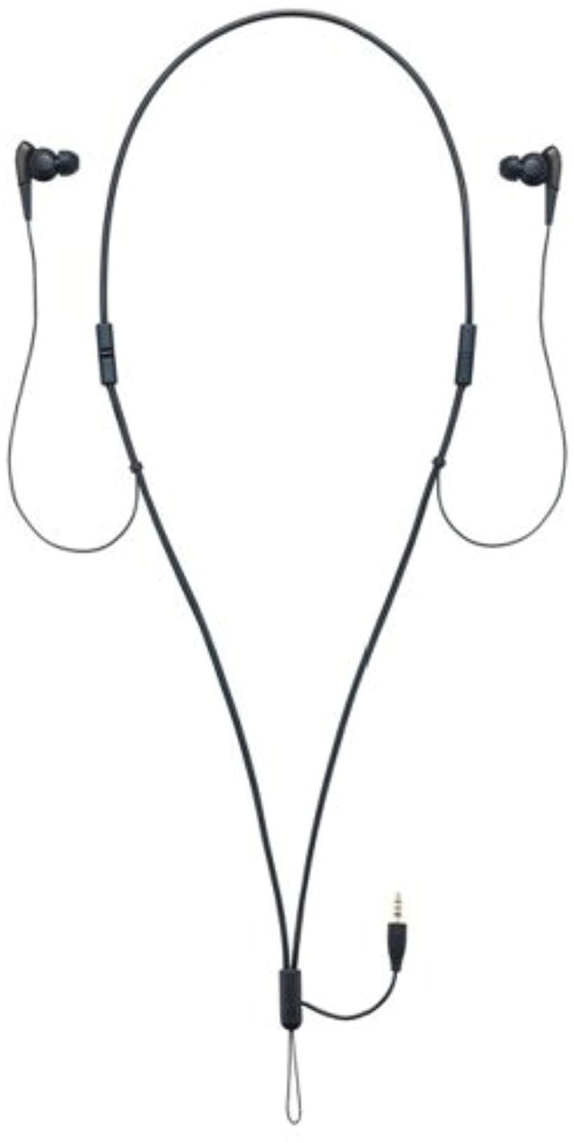 カナル型イヤホン ネックストラップ式 ノイズキャンセリング搭載ウォークマン専用(ブラック)