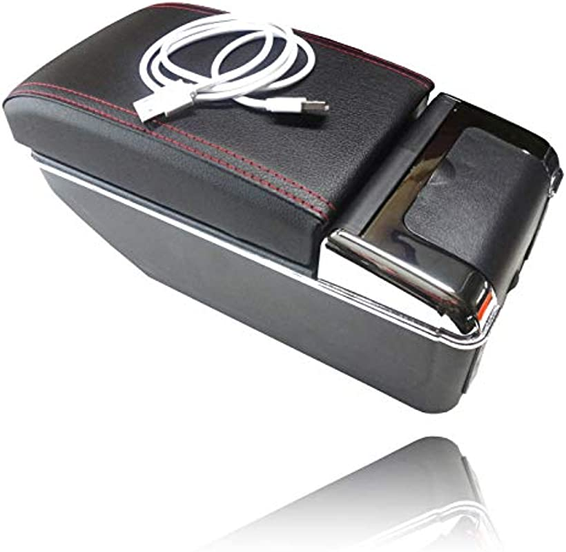 スズキ スイフト 多機能 アームレスト 小物入れ コンソールボックス ZC 11 ~ 33 新型 スウィフト 収納 ケース カスタム パーツ(USBポート付き)