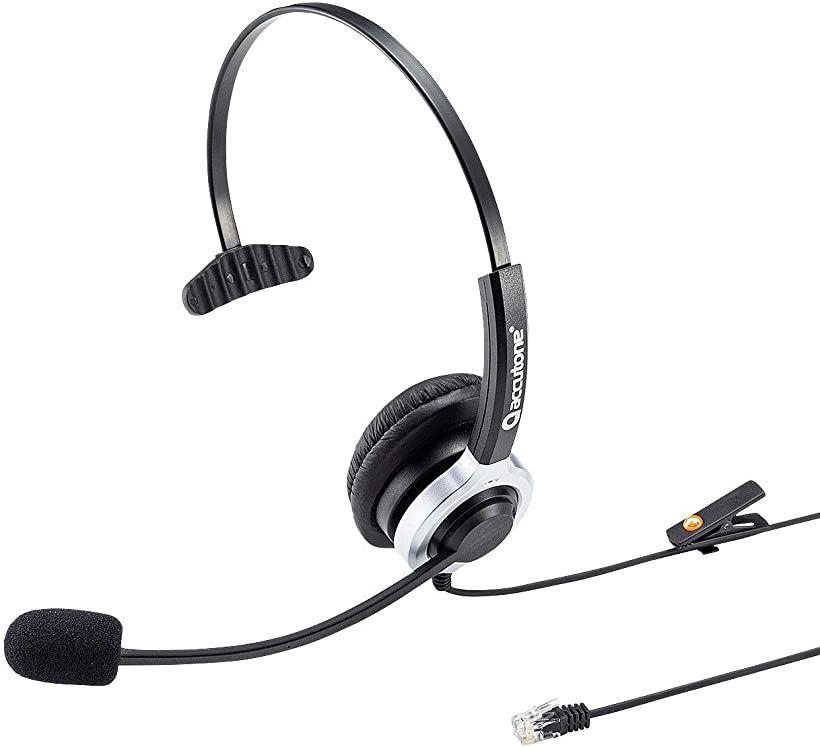 電話用ヘッドセット 片耳タイプ MM-HSRJ02