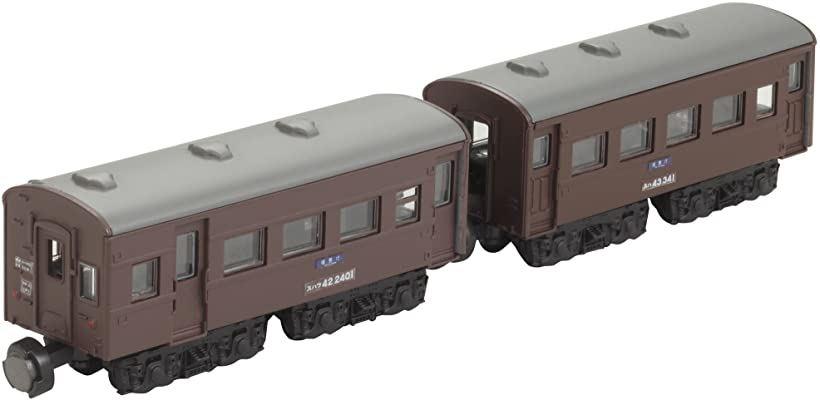 Bトレインショーティー 43系客車 茶 スハフ42+スハ43 プラモデル[161206]