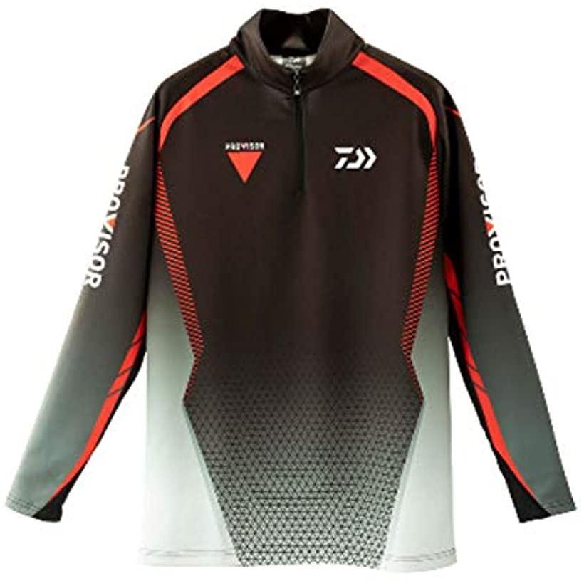 プロバイザーブレスマジックRハーフジップシャツ DE-32009(ブラック, XL)