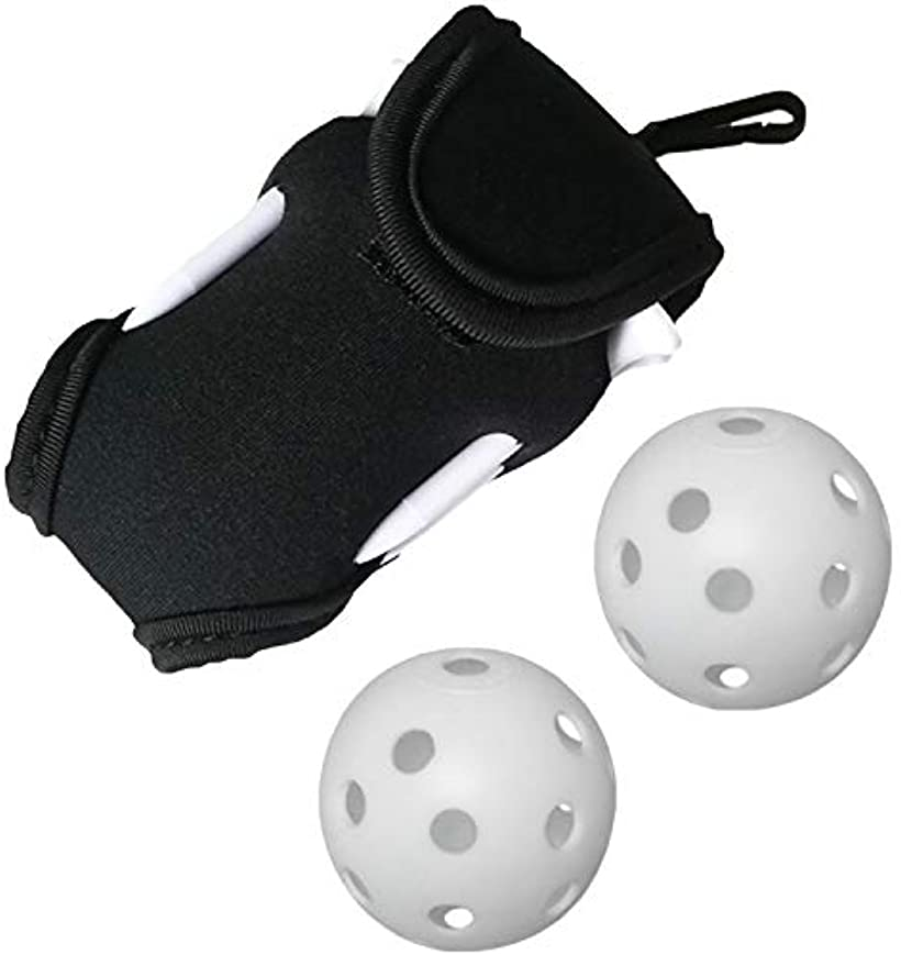 シャンディニー Chandeny ゴルフボールケース ボールポーチ 公式通販 小型 スーパーセール ティー ブラック 2個付 4本 練習ボール