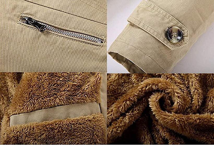 メンズ 裏ボア トレンチコート 秋 冬 防寒 アウター 通勤 ビジネス ジャケット 大きいサイズ ベージュMlFcT135KJu