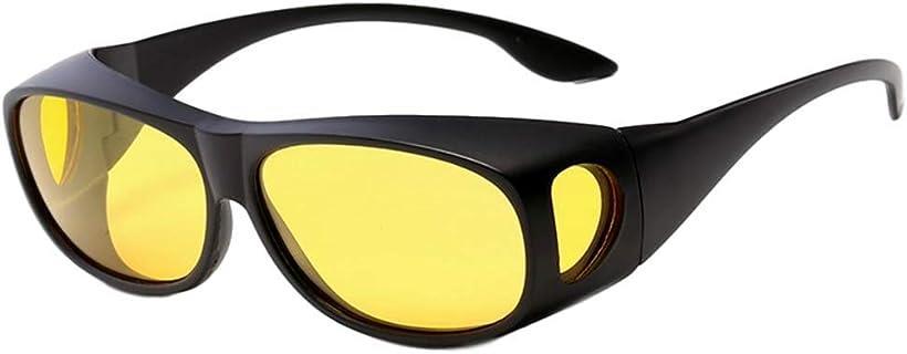 mon luxe サングラス 日本製 メンズ おしゃれ 偏光 めがねの上から 運転用 高価値 スポーツ オーバーサングラス 黄色 釣り uv イエロー