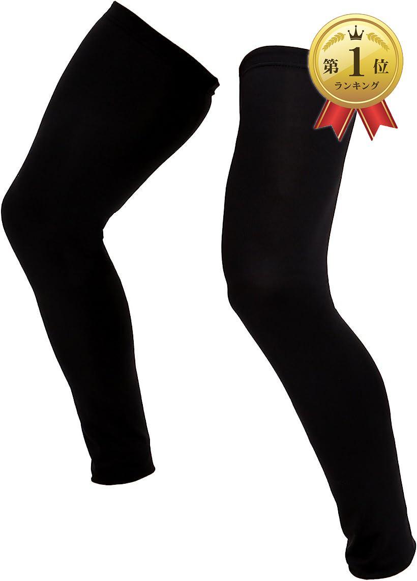 Eiza エイザ ファッション通販 レッグカバー 公式ストア スポーツ 2枚セット ランニング サイクル 春夏 L ブラック e390 対策 大きいサイズ ニーカバー 紫外線