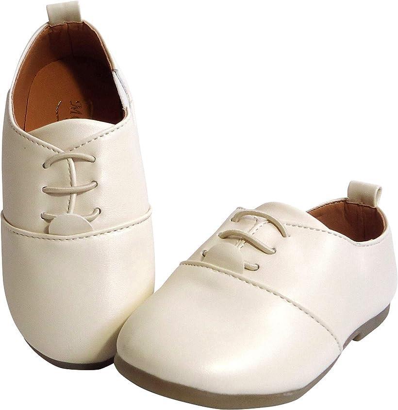 しあわせ倉庫  キッズ フォーマル 靴 男の子 女の子 子供靴 シューズ キッズ靴 入園式 結婚式 七五三 15.0,(クリーム, 15.0 cm)