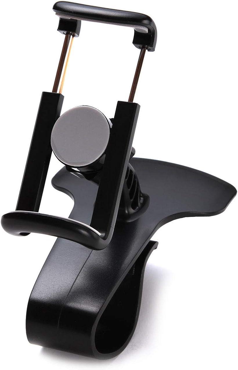 ノウヴ  車載ホルダー スマホスタンド 携帯ホルダー クリップ式 360度 回転 縦横 フレキシブルに対応 iphone 取り付け簡単