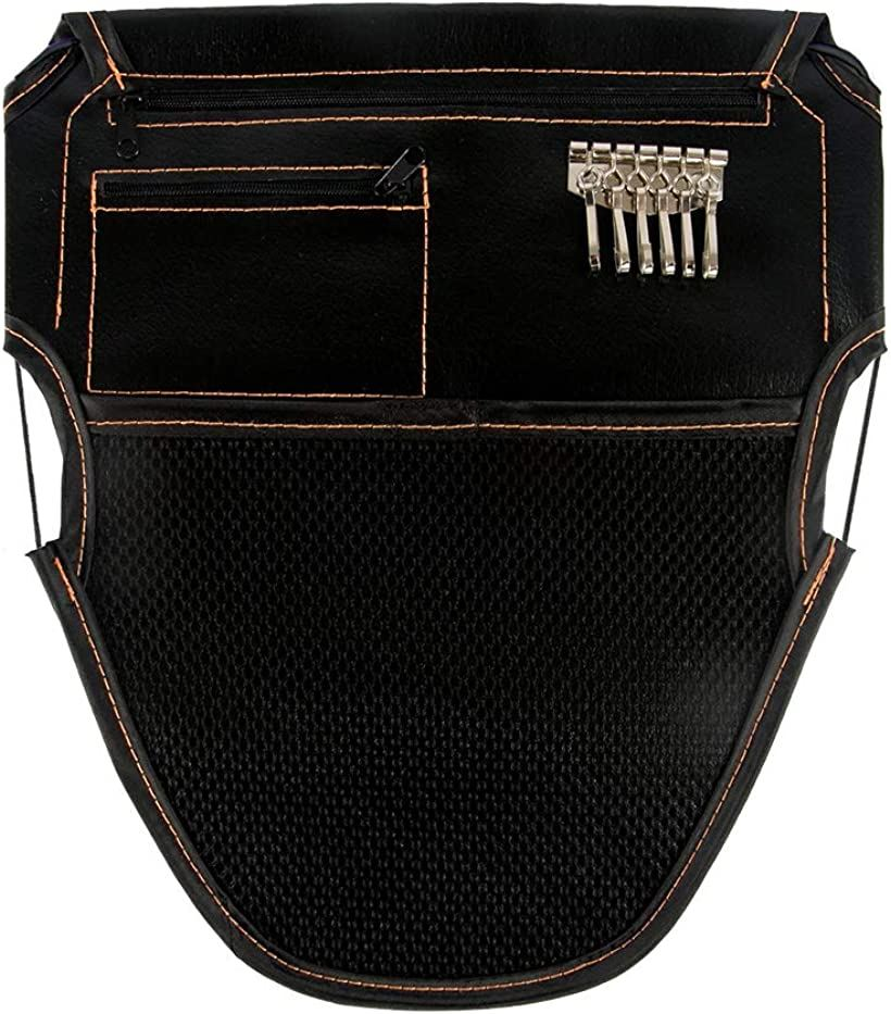 CARRY ALL BEFORE ONE シートインナーポケット バイク 信憑 メットイン 秀逸 シート裏面装着 インナーケース 収納バッグ ブラック メットインポケット バイク用ツールバッグ 大小ジッパーポケット 収納ケース 改良版 落下防止機能付き M キーフック