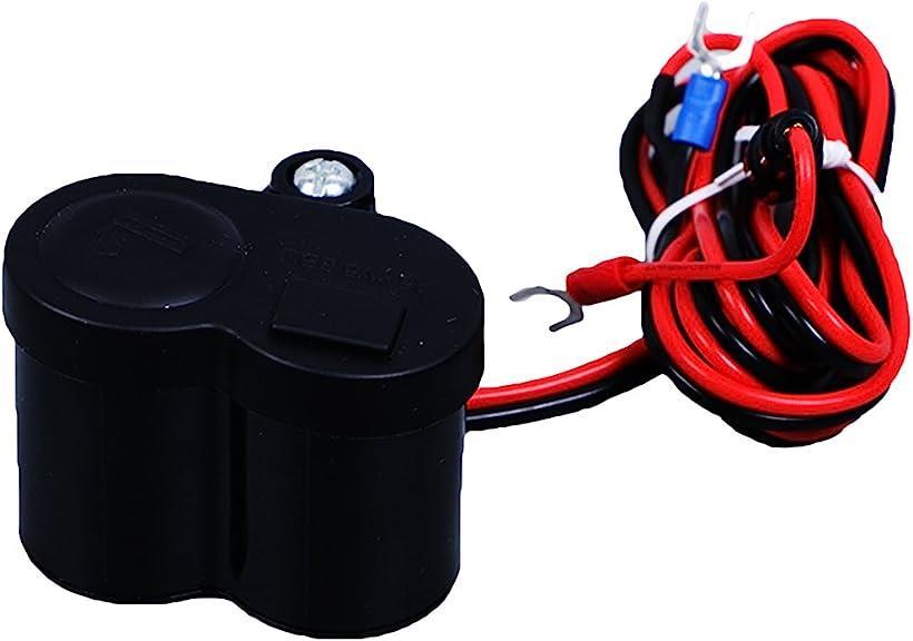 MAJESTIC 日本産 バイク用 スイッチ付き USBポート シガーライター 2WAY マーケット 充電器 防水 汎用 USB電源 チャージャー