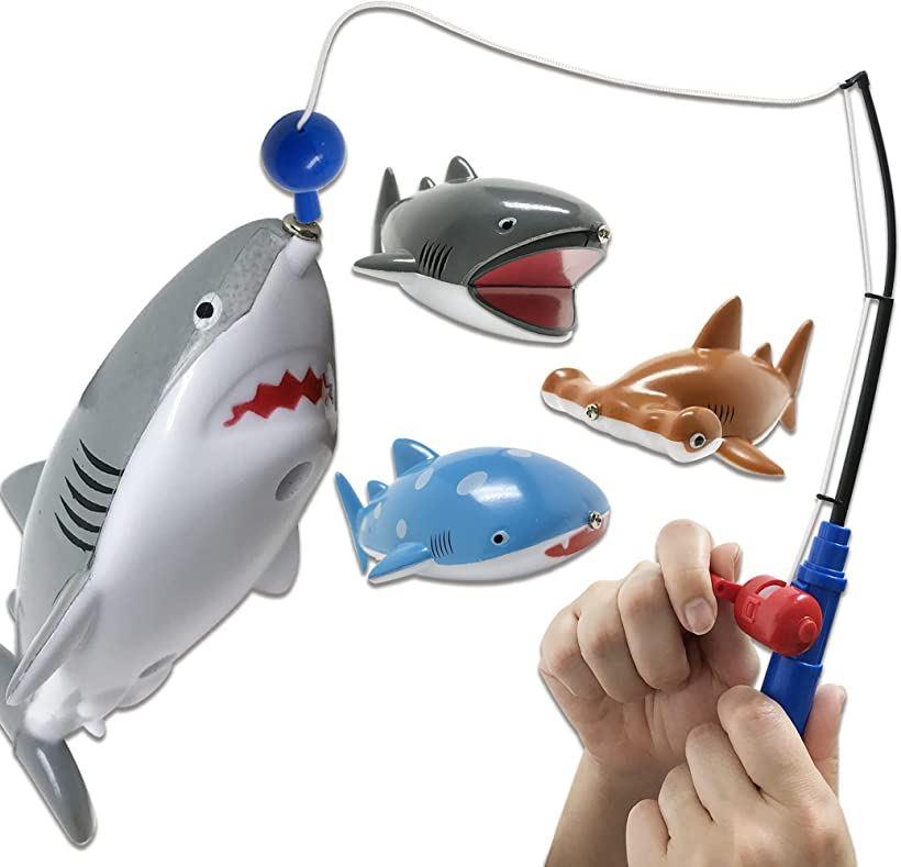<title>マーケティング Lamplanning 釣って遊ぼう サメ釣り名人 魚釣り ゲーム おもちゃ フィッシング マグネット お風呂 プール 水遊び 子供用 サメ4種</title>
