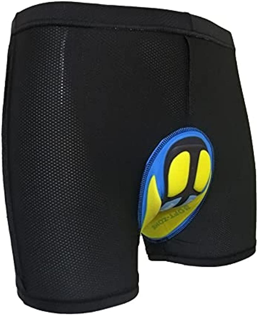 Brightrust サイクル SALE パンツ インナー 自転車用 3D ゲルパッド New ブラック, 2XL ブラック 激安通販販売 痛み軽減 20D 衝撃吸収