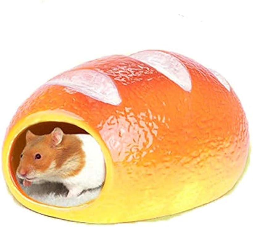 COOLTHICK ハムスターハウス 小動物 販売実績No.1 隠れ家 寝床 陶器 暑さ対策 パン ゴールデン 受注生産品 ひんやり 夏
