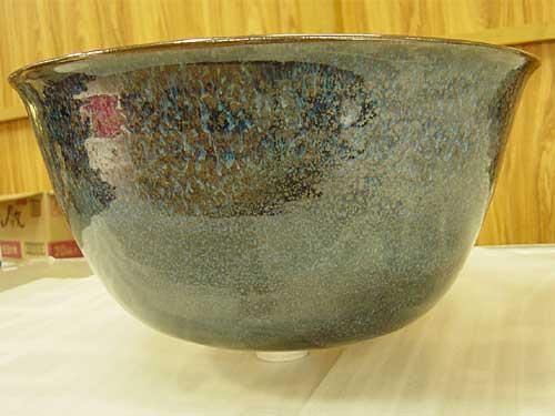 和のぬくもり★オシャレな陶器の手洗い鉢・青油滴天目釉薬(あおゆてきてんもくゆう)