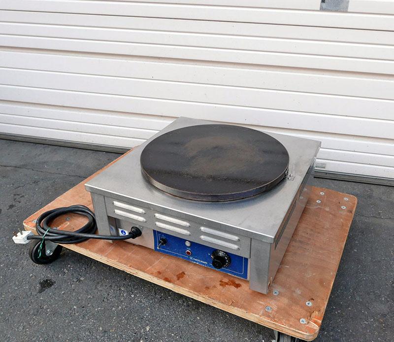 2008年製 電気クレープ焼器 ニチワ CM-410H 単相200V 450幅【中古】【焼器】