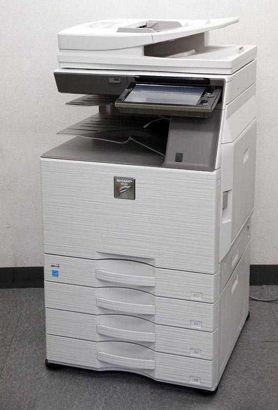 シャープ カラーコピー機(複合機)MX-2661 (A3・フルカラー・4段カセット・無線LAN接続・MacOS対応) 保守 保証【中古】