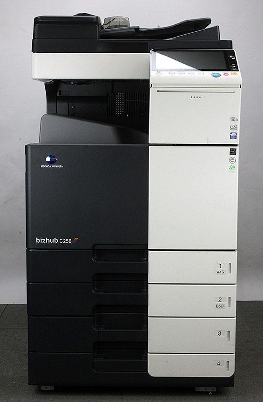 コニカミノルタ bizhub C258フルカラーコピー機/複合機(コピー、FAX、プリンター、スキャナ機能/Mac対応/全国保守契約可能) 中古コピー機/中古複合機 安心 安全 保証 残少