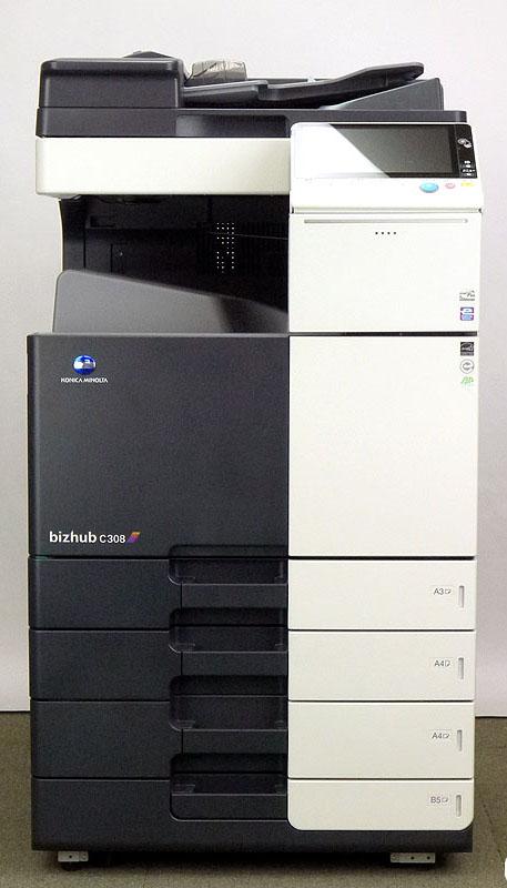 コニカミノルタ bizhub C308フルカラーコピー機/複合機(コピー、FAX、プリンター、スキャナ機能/Mac対応/全国保守契約可能) 中古コピー機/中古複合機 安心 安全 保証 残少
