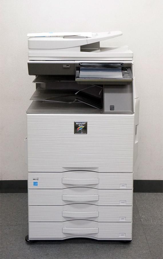 シャープ カラーコピー機(複合機)MX-3161 (A3・フルカラー・4段カセット・無線LAN接続・MacOS対応) 保守 保証【中古】
