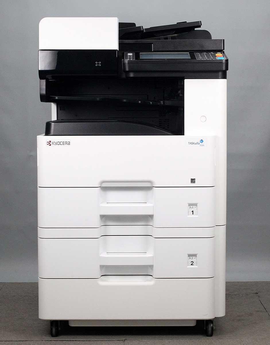 コンパクトフル機能 カウンタ6194 京セラ 販売期間 限定のお得なタイムセール TASKalfa 2520i 2段カセット A3白黒コピー機 カラースキャナー ファックス ネットワークプリンター ネットワークスキャナー 至上 複合機 両面コピー 中古