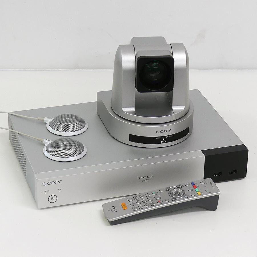 大規模会議室向け高画質高音質モデル SONY ソニー IPELA PCS-XG77 HDビデオ会議システム 全国どこでも送料無料 中古 一カ月動作保証あり 多地点接続オプション付き 送料無料 ビデオ会議システム 高品質新品