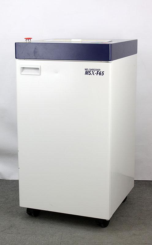 【1年間延長保証対象】明光商会 業務用シュレッダー MSX-F65 メディア対応パワークロスカットシュレッダー 大容量【中古】現行機種 人気 保証 節電 DVD裁断可 カード裁断可