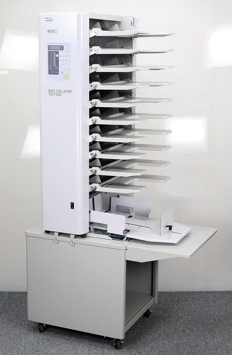 10段丁合機 授与 現行 RISO 丁合機 TC7100 中古 10段 輸入 コレーター