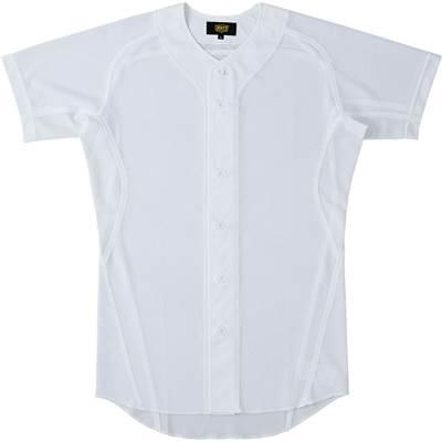 ゼット ZETT 野球 練習着 メッシュユニフォーム メッシュシャツ メカパンライト 高級品 野球メッシュフルオープンシャツ シャツ BU1081MS 新作 人気 ホワイト 1100 ウエア ユニホームシャツ