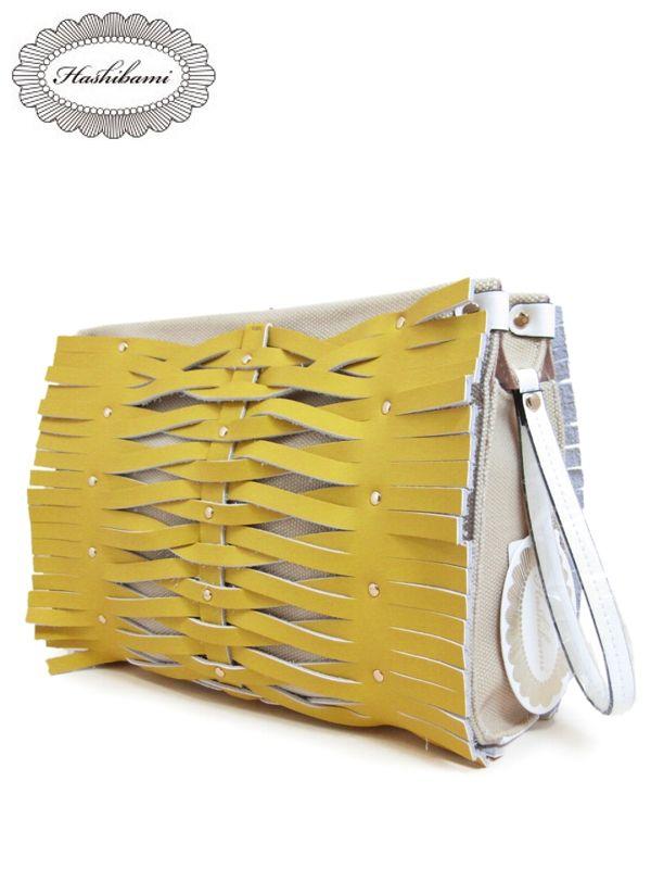 Hashibami(ハシバミ) Hashibami Pineapple Clutch 【パイナップルクラッチ】 バッグ 本革 レザー BAG レディース 全2色 おしゃれ 大人 かわいい デザイン クリスマス ギフト プレゼント 【送料無料】【0824カード分割】