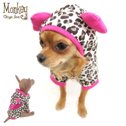 Monkey Daze (モンキーデイズ) Leopard Sequins Heart Hoodie (レオパードスパンコールハートフーディーパーカ)