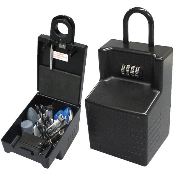 送料無料 キーストックメガ キーボックス 暗証番号 ダイヤル 鍵収納 南京錠 N-1295 ノムラテック