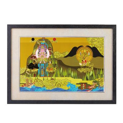 送料無料 イスム HAKUジクレ pop'n Buddha 日本曼荼羅 ジグレー版画 アクリルカバー
