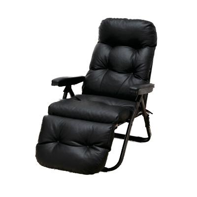 送料無料 リクライニング アームチェア DX リクライニングチェア リクライニングソファ 一人用 リクライニング座椅子 折りたたみ オットマン一体型 オットマン付