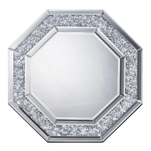 送料無料 鏡 壁掛け 八角形 ミラー 風水 八角鏡