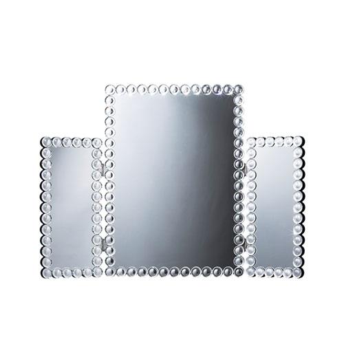 送料無料 三面鏡 メイクミラー 化粧ミラー