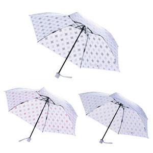 送料無料 UVION プレミアムホワイト50ミニカーボン ニューアラベスク 日傘 折り畳み傘 UVカット99%以上 軽量150g