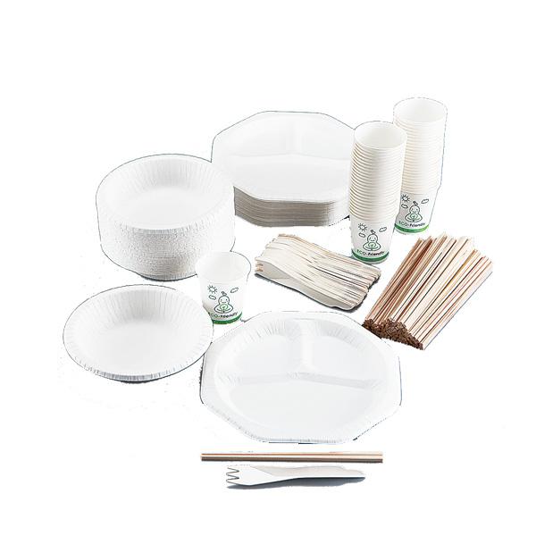 国産紙エコ食器セット(50人用)