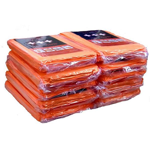 【送料無料】足立織物 非常用圧縮毛布 10枚入り EB-201BOX 起毛タイプ/備蓄/オフィス/防災