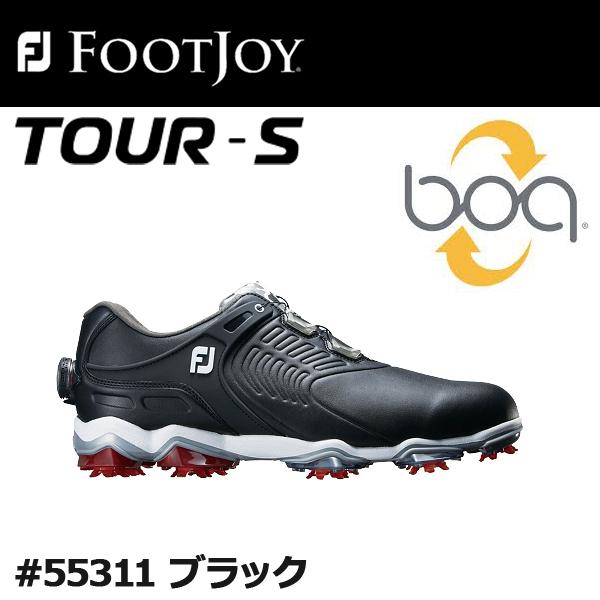 【2018年モデル】【取り寄せ商品】【フットジョイ】FJ メンズ ゴルフシューズFJ TOUR-S boa #55311ブラックツアー エス ボア【FOOTJOY】【日本正規品】【ウィズ:W】