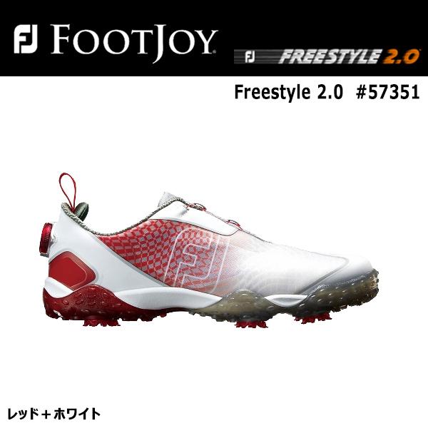 【2018年モデル】【取り寄せ商品】【フットジョイ】FJ ゴルフシューズFreestyle 2.0 #57351レッド+ホワイトフリー スタイル2.0【FOOTJOY】【日本正規品】