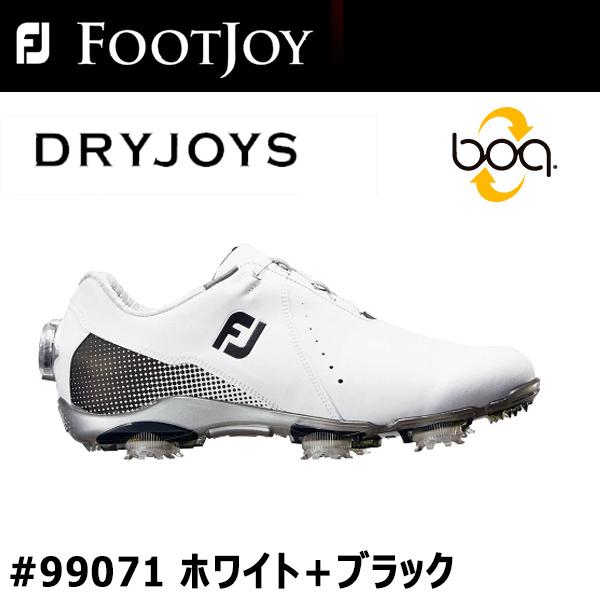 【レディース】【2018年モデル】【フットジョイ】FJ DRYJOYS For women #99071ドライジョイズ ゴルフシューズ ボアホワイト+ブラック【FOOTJOY】【日本正規品】