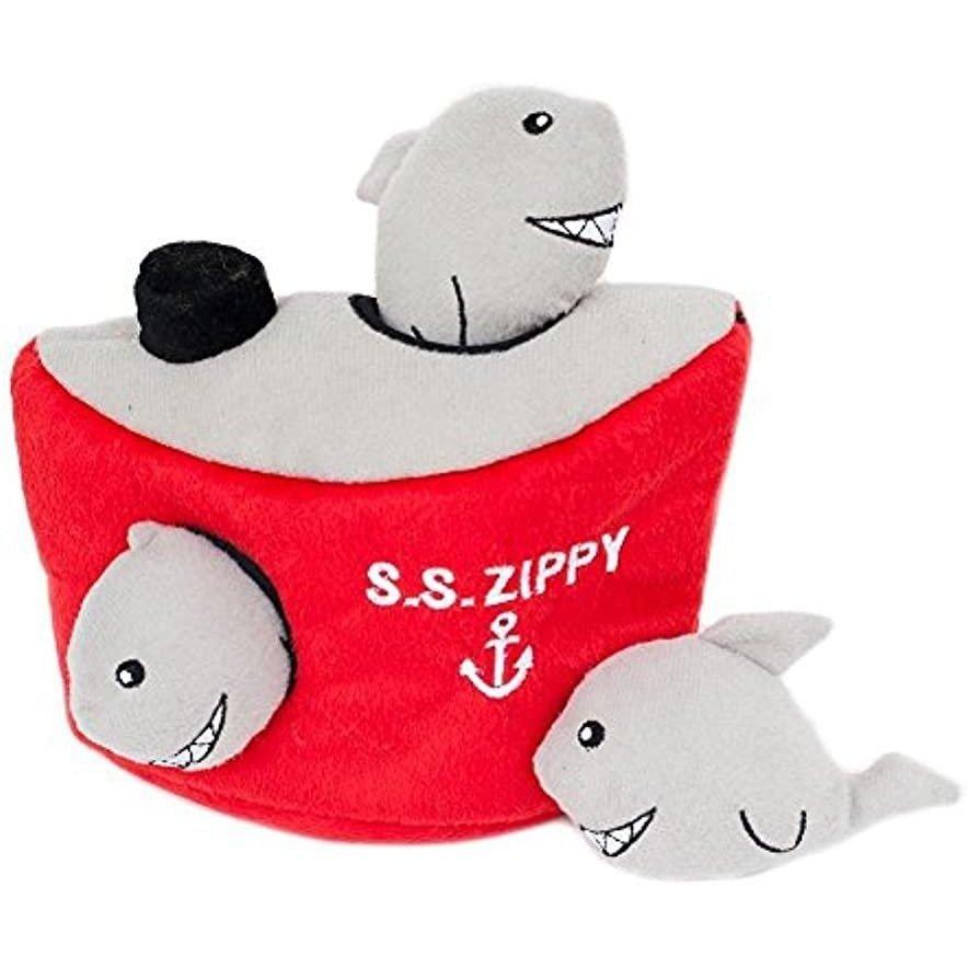 アメリカのペットブランドZippy Pawsの犬用パズル スクイーカー サメ 鮫 シャーク ZippyPaws ジッピーポウズ ノーズワーク 返品不可 即納送料無料! 音がなる 大型犬 中型犬 かくれんぼ 知育玩具 犬のパズル かわいい 小型犬 Burrow 音のなるおもちゃ