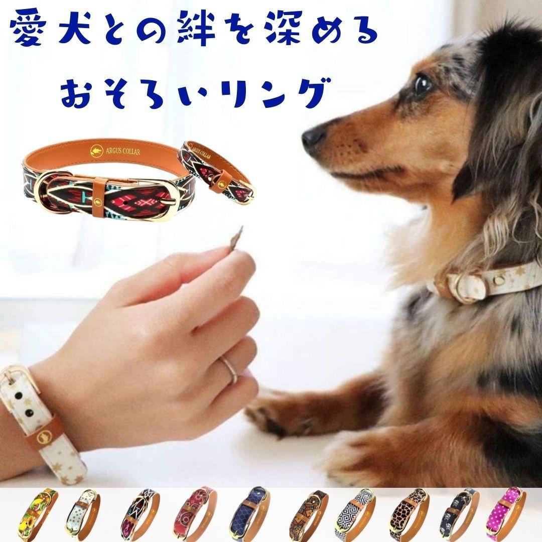 愛犬とお揃いのペアリング。ギリシャ発のペットブランド。さりげないお揃いが楽しめるブレスレットと首輪のセット。10種類のおしゃれなデザイン。 犬用 首輪 ブレスレット セット販売 犬とおそろい ペアリング おしゃれ かわいい やわらかい 痛くない ビーガンレザー 送料無料 大型犬 中型犬 小型犬 超小型犬 超大型犬 犬の首輪 ブランド プレゼント 贈り物 かっこいい オシャレ アルゴスカラー