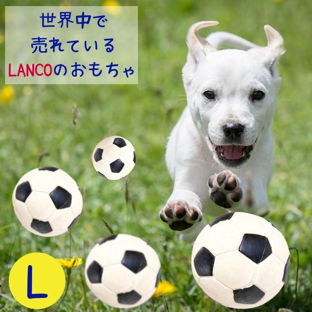 スペインのブランド 大量生産させるために必要な硬化剤も一切使用しない ブランド品 昔ながらの製法で時間を掛けて作られています 限定特価 2点購入で20%OFFクーポン Lanco ランコ 犬用 ボール おもちゃ サッカーボール 中型犬 頑丈 丈夫 小型犬 大型犬 音がなる Lサイズ スクイーカー