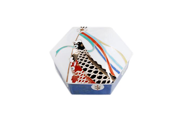 鯉のぼり 六角蓋物