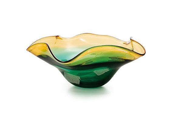 びいどろガラス 水盤 グリーン