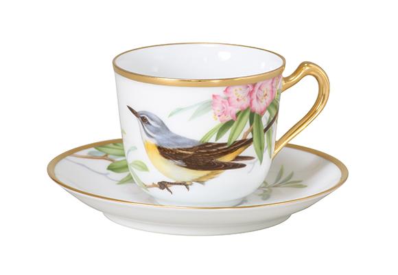 野鳥シリーズ コーヒー碗皿 セキレイ