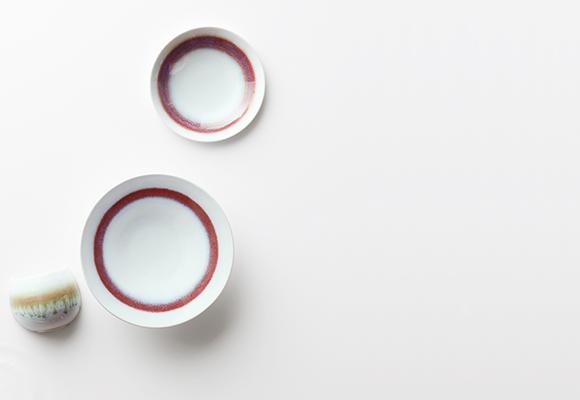 環 TAMAKI -蘇芳(SUOU) 切立プレート23cm